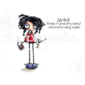 Tampon Oddball with martini Stamping Bella