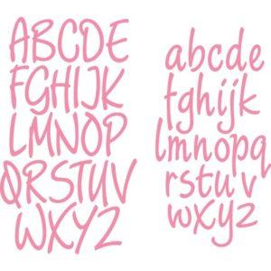 Dies Alphabet Minuscule et Majuscule Marianne Design