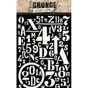 Pochoir Grunge n°13 Studio Light