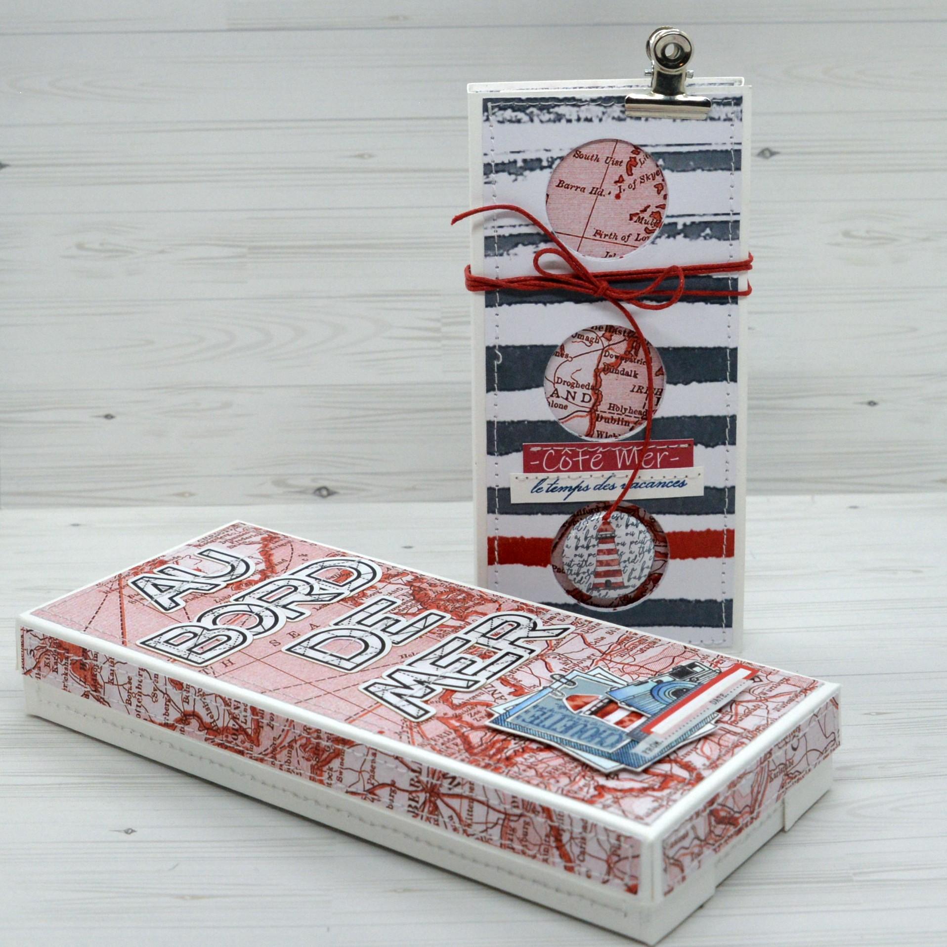 Tuto n°1 pour la Box de Juillet 2021 par Claire Scrap At Home: le minialbum dans sa boite!