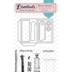 Dies + Tampons clear Essentials n°2 Studio Light Planner Elements