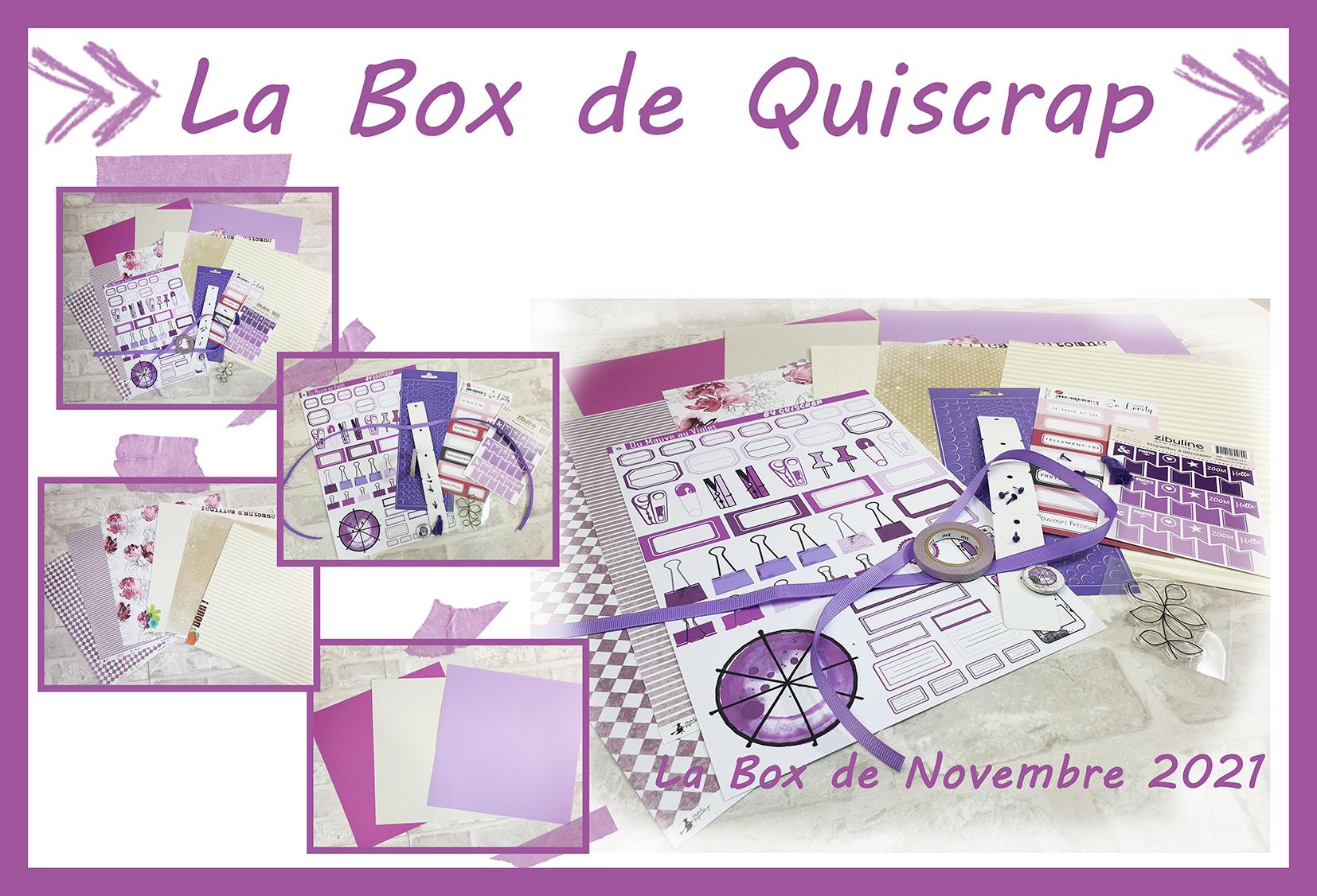La Box de Novembre 2021