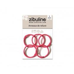 Anneaux de reliure 25 mm Zibuline (coloris à choisir dans le menu déroulant)