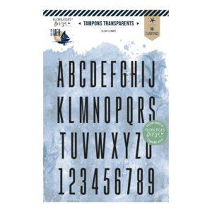 Tampons clear Alphabet Fin Florilèges Design Collection Vue sur Mer