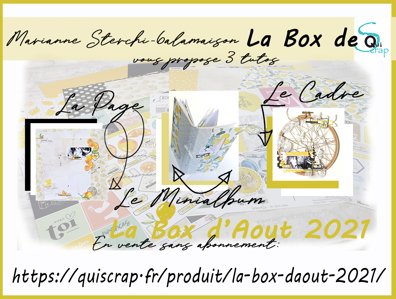 ***Récapitulatif la Box d'Aout 2021 par Marianne Sterchi – 6alamaison***