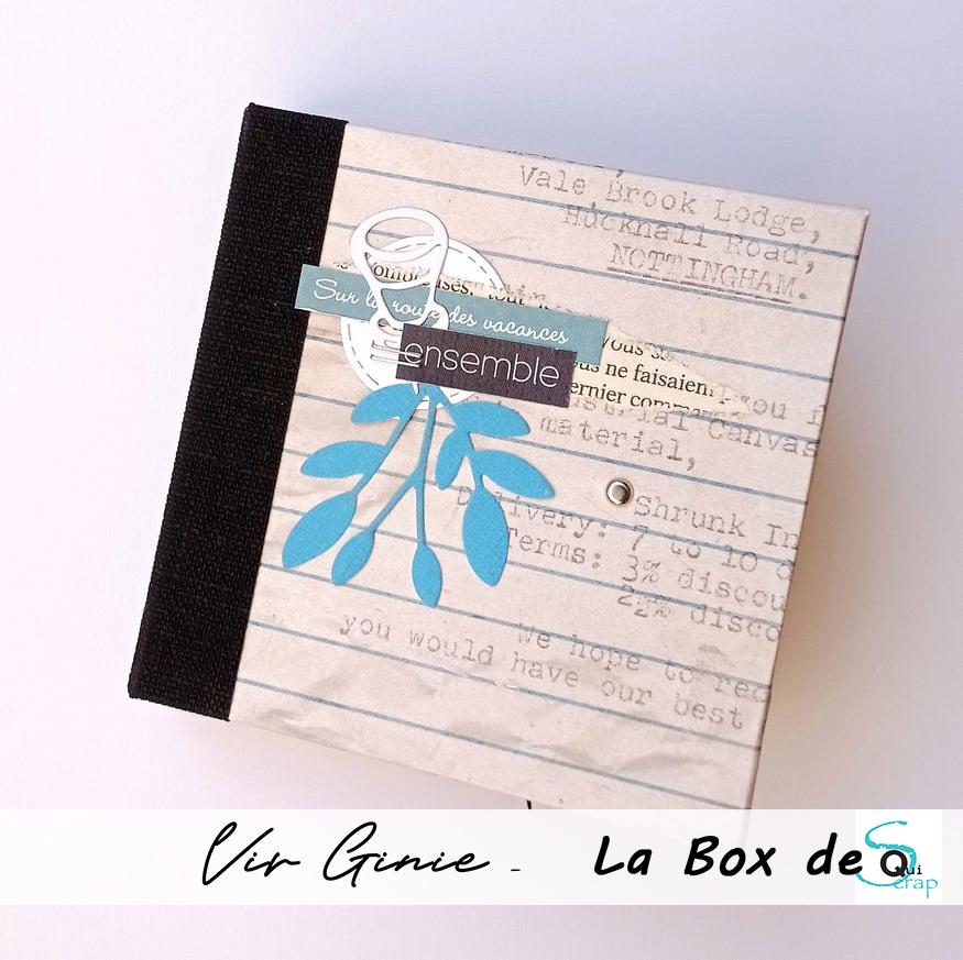 Tuto n°1 pour la Box d'Octobre 2021 par Vir Ginie: Le minialbum «Ensemble»