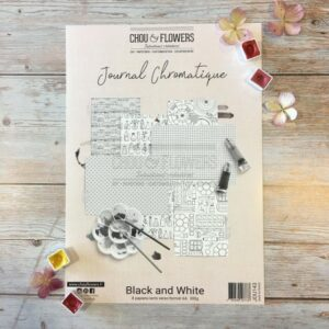 Collection papier A4 JOURNAL CHROMATIQUE BLACK AND WHITE Chou&Flowers