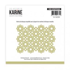Die Cahier d'Automne Fond géométrique -Les Ateliers de Karine