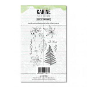 Tampon clear Cahier d'Automne Feuilles d'Automne – Les Ateliers de Karine