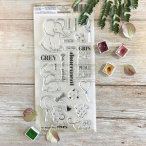 Tampon clear GREY Chou&Flowers