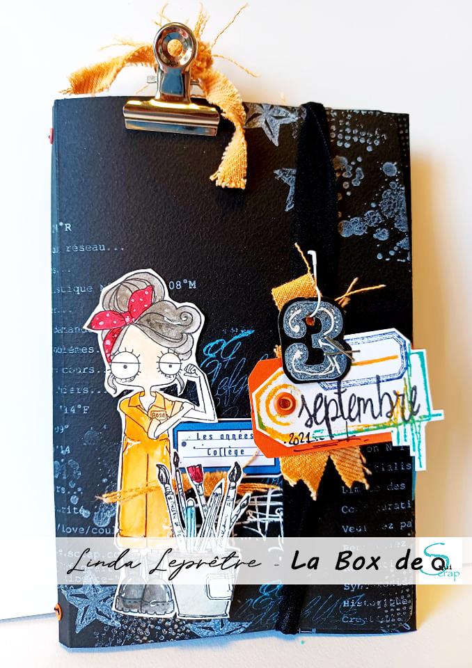 Tuto n°3 pour la Box de Septembre 2021 par Linda Leprêtre: la pochette élastique et son carnet!