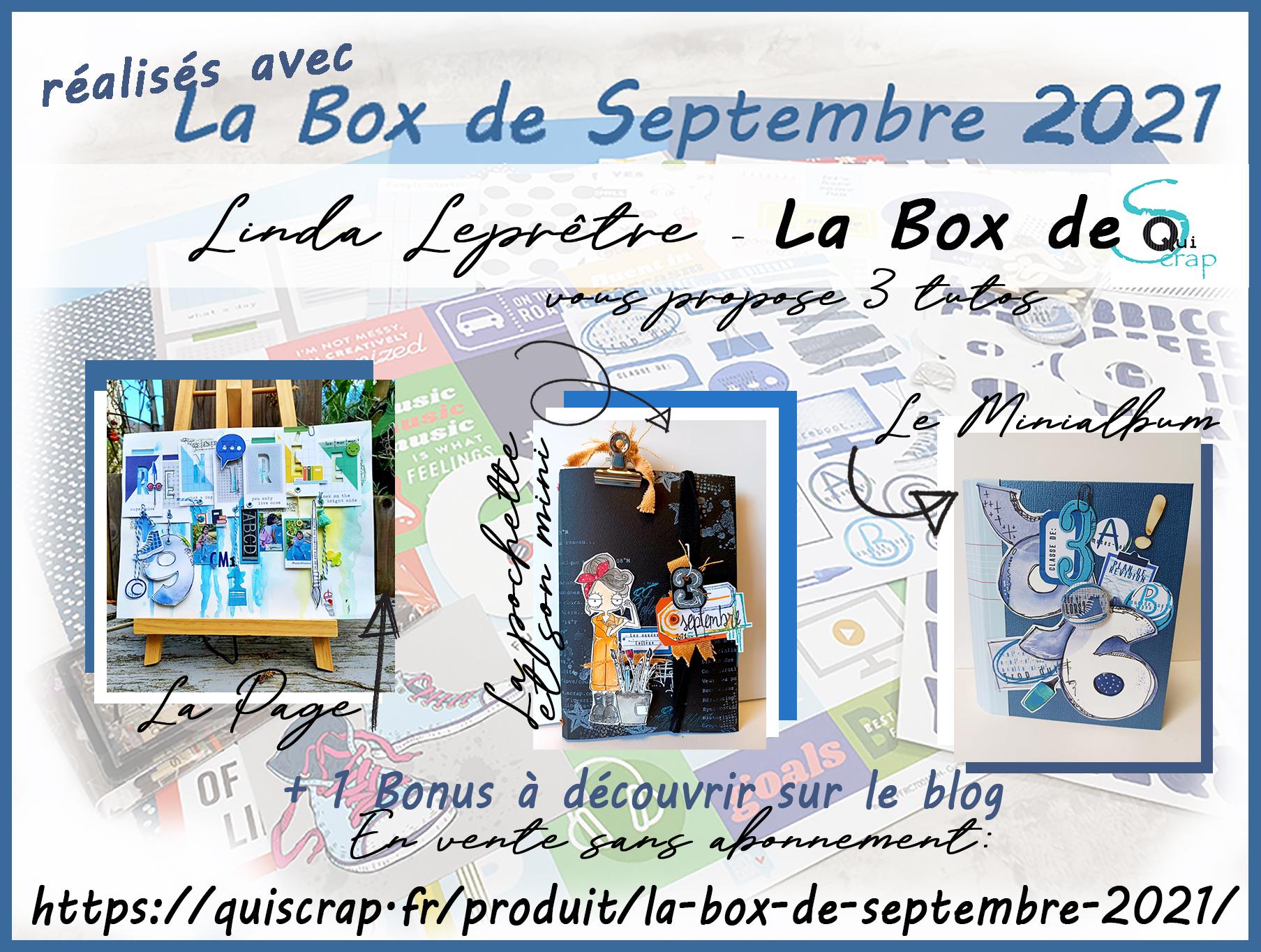 ***Récapitulatif La Box de Septembre 2021 par Linda Leprêtre***