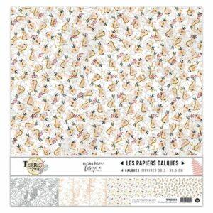 Kit papiers calques TERRE DES SENS Florilèges Design
