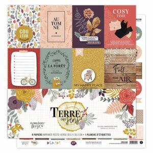 Collection Kit papiers imprimés TERRE DES SENS Florilèges Design