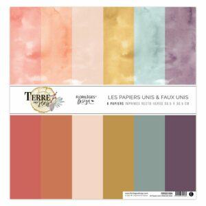 Kit papiers unis TERRE DES SENS Florilèges Design