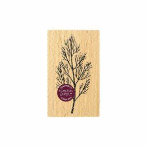 Tampon bois BRANCHE NUE Florilèges Design (Collection Terre des Sens)