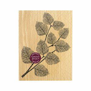 Tampon bois FEUILLAGE RÉALISTE Florilèges Design (Collection Terre des Sens)