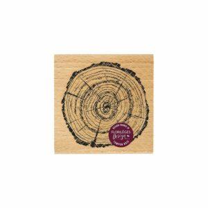 Tampon bois RONDIN LARGE Florilèges Design (Collection Terre des Sens)