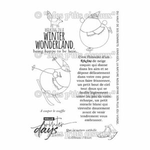 Tampons clear Winter Days – Mes Ptits Ciseaux